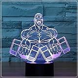 Nachtlicht 3D Illusion Lampe LED Tischlampe 3D-Illusion Lampen-Nachtlicht 7 Farben änderndes...
