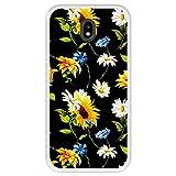 Hapdey Funda Transparente para [ Samsung Galaxy J5 2017 ] diseño [ Patrón Floral, Flores Multicolores 2 ] Carcasa Silicona Flexible TPU