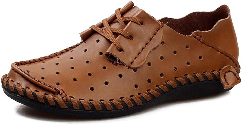 ChengxiO Freizeitschuhe mnner Weiche Gesicht Coole Schuhe Loch Hohl Atmungsaktiv Groe Gre Weiche Unterseite Bequemes Fahren Schuhe Frühling und Sommer (Farbe   Orange, Größe   48)
