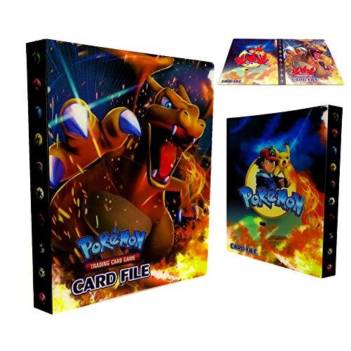 Dorara Pokemon Kartenhalter, Pokemon Karten GX EX Trainer Alben, Sammelkartenalben, 30 seitig Kann bis zu 240 Karten aufnehmen, (Charizard)