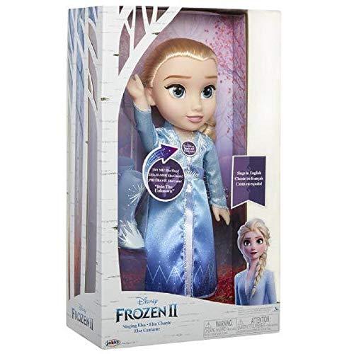 Jakks Pacific – Bambola cantante Elsa 38 cm in vestito blu Frozen 2