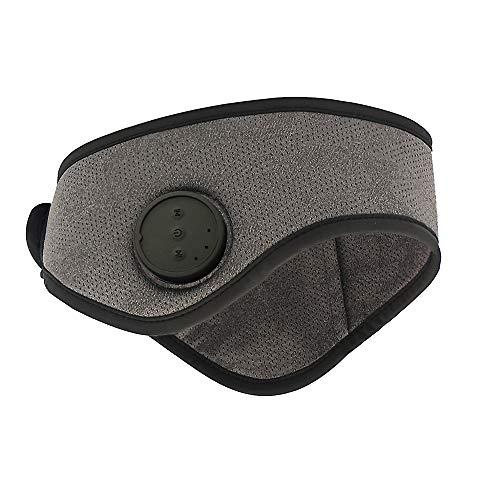 Yornight Wireless Bluetooth 5.0 Headband Headphones,Music Sports Headbands Unisex Bone Conduction Headphones for Workout Jogging Cycling (1 Speaker only) (Grey)