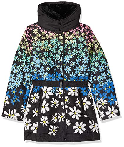 Desigual Mädchen Coat Lichi Jacke, Schwarz (Negro 2000), 116 (Herstellergröße: 5/6)
