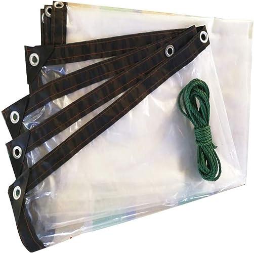 Toile de Prougeection Bache de Prougeection Solaire Joints de Fenêtre en Tissu Imperméable à L'Eau en Plastique Pour L'Extérieur, Plusieurs Tailles Disponibles, WenMing Yue, Clair, 4x8M