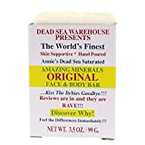 Dead Sea Warehouse - Amazing Minerals Original Face and Body Cleansing Bar, Soothing Dead Sea Salt Supports Clear and Healthy Skin, Great for All Skin Types and Sensitive Skin (Unscented, 3.5 Ounces)
