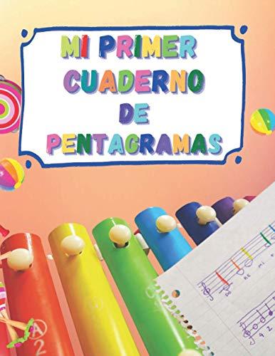 Mi Primer Cuaderno de Pentagramas: 6 pentagramas por página para comenzar con facilidad la escritura musical. 52 páginas. Tamaño A4.