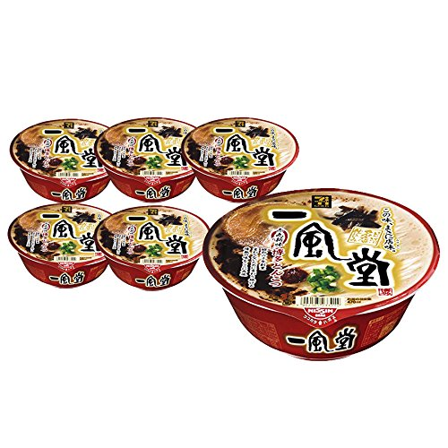 "[Value Pack] IPPUDO""Akamaru"" Instant Japanese Famous Shop's Tonkotsu Ramen 6 Cups Value Set"