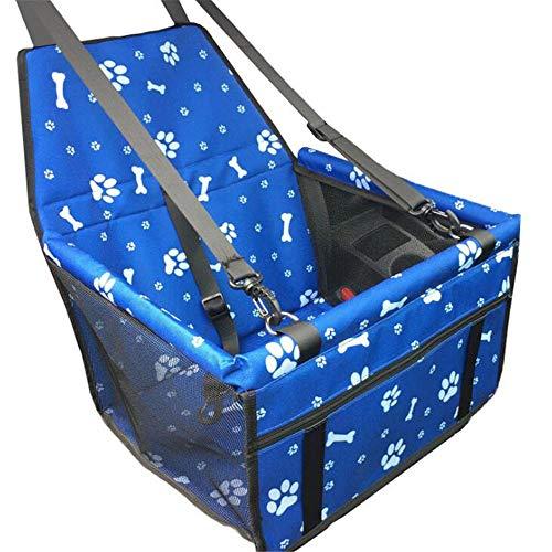 HAORI Hondenautostoel Deluxe Portable Pet Dog Booster Car Seat met clip-on veiligheidslijn en hondendeken, perfect voor kleine huisdieren