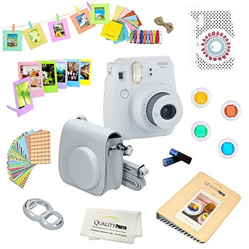 Great Price! Fujifilm Instax Mini 9 Camera + 14 PC Instax Accessories kit Bundle, Includes; Instax C...