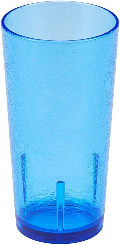 Cambro D16608 Del Mar Blue 16 Oz Tumbler With Crackle Finish Dozen