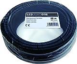 Cable H05VV-F Manguera 2x0,75mm 50m (Negro)