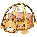 3-in-1-Babyspielmatten Löwe Baby-Turnhallen Lebendiges Dorf Smart Activity Gym Deluxe Baby Activity-Spielmatte in den Wald Journey of Discovery Activity Gym