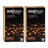 Manforce Premium Hotdots Belgian Chocolate Condoms with Bigger Dots - 10s (Pack of 2)
