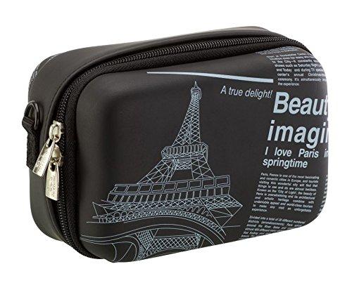 Rivacase 7051 (PU) Kompaktes Gehäuse Schwarz, Weiß - Kamerataschen/-Koffer (Kompaktes Gehäuse, Universal, Schwarz, Weiß)
