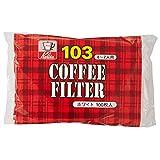カリタ Kalita コーヒーフィルター ホワイト NK103濾紙 4~7人用 100枚入り #15081