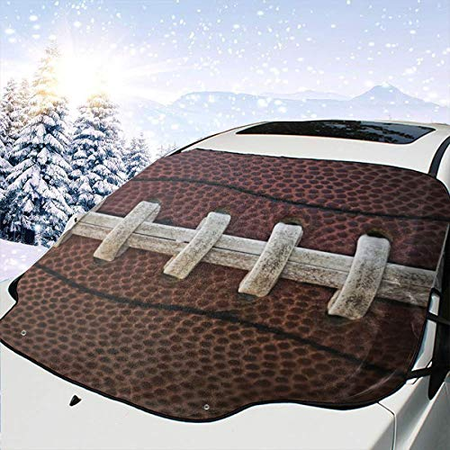 remmber me American Football Auto Windschutzscheibe Schneedecke Eisabdeckung Windschutzscheibe 57,9X46,5 Zoll Sonnenschutz Wasserdichter Windschutzscheibenschutz für Jeep Trucks Suvs Mpvs
