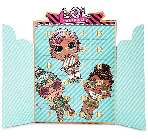 L.O.L. Surprise! Adventskalender 2020 Kinder, Schmuck Adventskalender 24 LOL Puppen Charms, Armband und Halskette Weihnachtskalender Mädchen