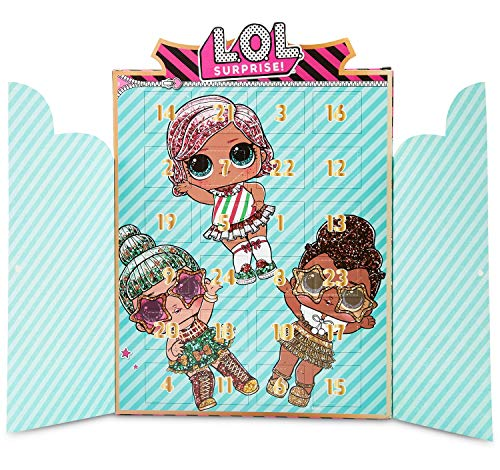 L.O.L. Surprise! Advent Calendar 2020, Girls Jewellery Christmas Countdown Calendars With 24 Surprises With Bracelet, Necklace And 22 LOL Dolls Charms And Accessories Including Queen Bee and Unicorn