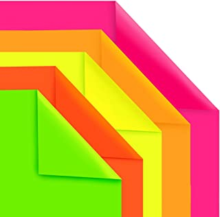 Hygloss Products Fluorescent Poster Board - 25 Neon Colored Poster Board Sheets - 22 x 28 Inches, Assorted Colors
