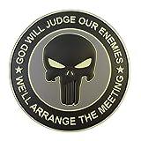 ACU GOD WILL JUDGE OUR ENEMIES Glow Dark Punisher DEVGRU Navy Seals PVC Touch Fastener Patch