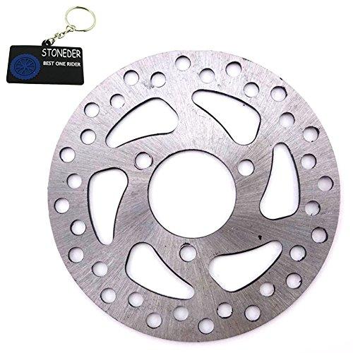 STONEDER Bremsscheiben-Rotor aus Stahl, 35 mm/120 mm, für 2-Takt-47 cc/49 cc Gas-/Elektrik-Scooter für Kinder, Pocket Bike, Vierräder, ATV-Quad, Mini-Dirtbike