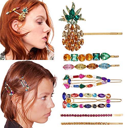 7PCS Kristall Strass Haarspangen Haarnadeln für Frauen Strass Haarnadeln Haarspangen Handgefertigte Kristall Haarspangen Haarnadeln