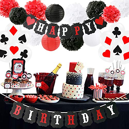 Poker Theme Party Supplies Casino Party Decoration Supplies Casino Theme Party,Las Vegas Themed Parties,Casino Night,Poker Events,Casino Birthday Décor