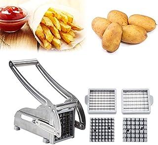 POPSPARKk Machine de découpe de Cuisine,Machine à Couper Les Pommes de Terre,Machine à Couper Les Frites Acier Inoxydable