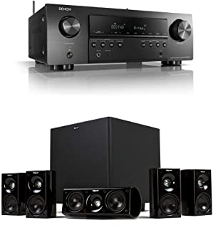 Denon AVR-S650H 5.2 Channel Audio Video Receiver + Klipsch HDT-600 Home Theater System Bundle