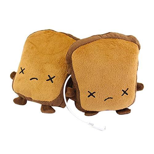 MCTY - 1 paio di scaldamani riscaldati con USB, riscaldati a forma di cartone animato, guanti invernali, per donne e bambini