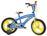 Dino Bikes - Bicicleta para nio con Licencia de los Minions de 16 Pulgadas, 5 a 8 aos, 165 XC-MIN