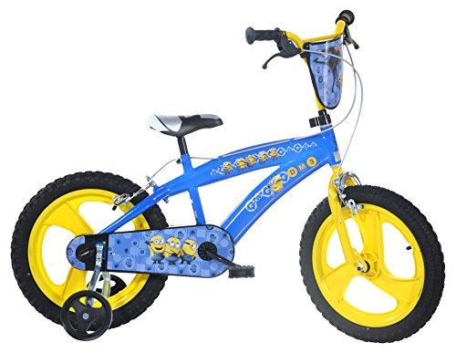 Dino Bikes - Bicicletta da bambino con licenza dei Minions 16 pollici, 5-8 anni, 165 XC-MIN