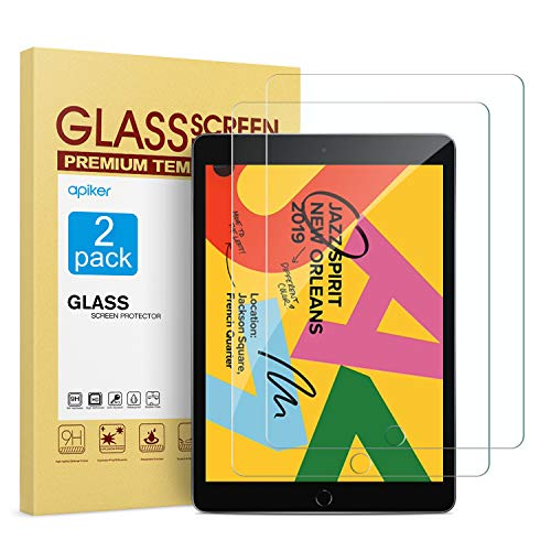 Find Cheap [2 Pack] Screen Protector for iPad 7th Generation 10.2 Inch (iPad 7) 2019 Release, apiker...