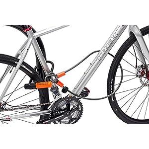 Kryptonite Evolution Mini 7con 4' cable de lazo U-Lock Kripto Flex doble para bicicleta - Naranja y Negro