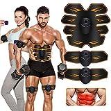 MATEHOM Electroestimulador Muscular Abdominales,Estimulación Muscular Masajeador Eléctrico Cinturón Abdomen/Brazo/Piernas/Glúteos
