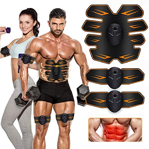 MATEHOM Abs Trainer,Muscle stimulator,EMS Muscle Stimulator,Abdominal Stimulator Toning Belt Abs Pad Muscle Training Belly Fat Burner for Men & Women
