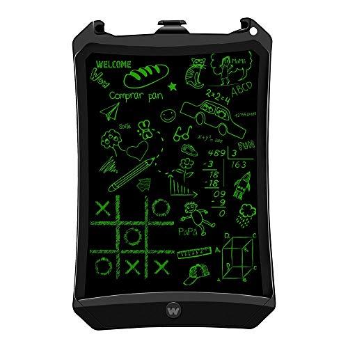 Woxter Smart Pad 90 Black - Pizarra electrónica, Tableta de escritura de 9', Tonalidad Verde, Sensor de presión (10-200g), pila CR2016, Imanes para Nevera, color negro