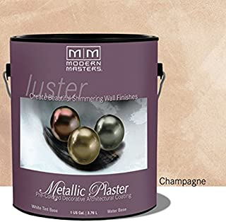 Modern Masters PSMP701-GAL Luster Series Metallic Plaster, Champagne - One Gallon