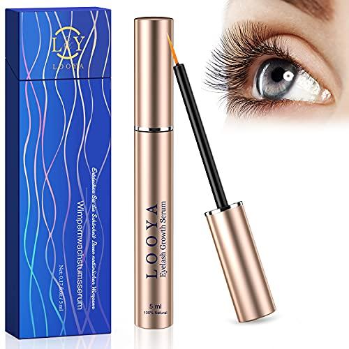 5ml Wimpernserum, LOOYA Lashes Serum Wimpern Augenbrauenserum Wimpernbooster mit Natürlichen Inhaltsstoffen und Hormonfrei für Wimpernwachstum