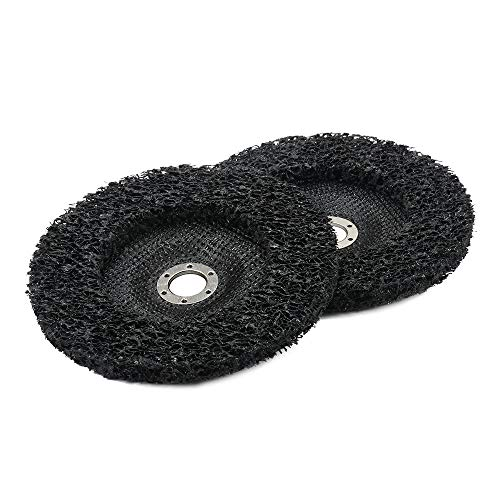 Polishing Pad 7 inch Poly Strip Abrasive Angle Grinding Wheel for Removal of Rust, Paint and Flaking Materials 180mm 2Pcs