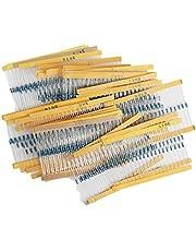 Jolicobo Genérico 820PCS 1 / 4W Resistor 41 Valores Resistor Surtido Axial-Lead Metal Film Resistor 1 Ohm a 1M Ohm 0.25 Vatios ± 1% Kits Surtidos para DIY y Experimentos