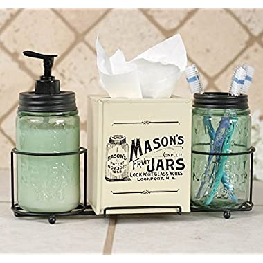 Mason Jar Bathroom Caddy