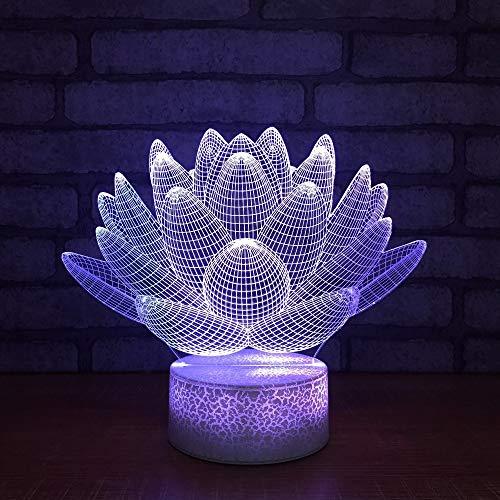 Lámpara de Loto lámpara de Mesa bebé sueño iluminación Regalo decoración del hogar luz Nocturna niños Toque Creativo Regalo Visual