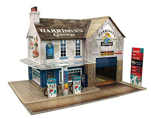 The CityBuilder Garage & Shop Cardboard Model Making Kit - O Scale Model Railroad Building