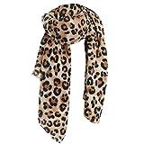 DOGZI Mujer bufanda,Otoño e invierno Estampado de leopardo Cachemira Mantener caliente Espesar bufanda Chal Mujer Largo Lana Chal Suave Bufanda larga del cuello