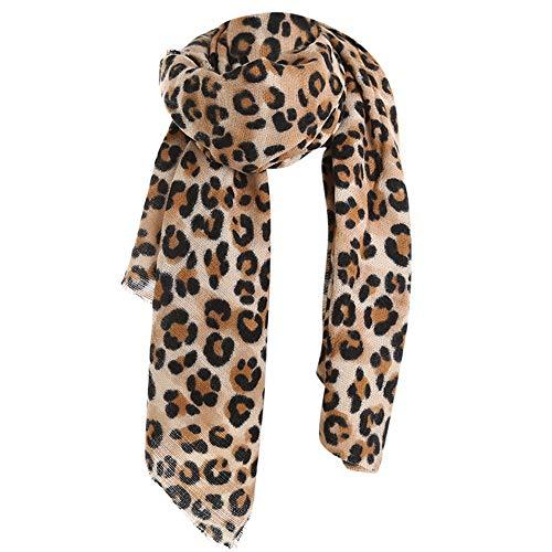 Deloito Mode Damen Winter Nachahmung Kaschmir Verdickung Wärme Leopard Gedruckt Schal Lange Wollschal Weich Halstuch (Mehrfarbig)