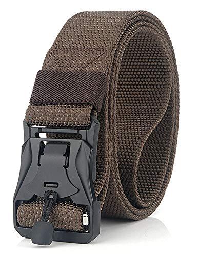Longwu Hebilla de metal súper magnética Lona de nylon de liberación rápida Cinturón táctico militar transpirable para hombres y mujeres