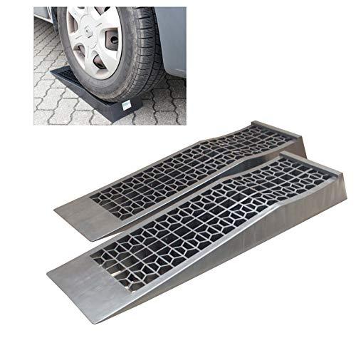 TRUTZHOLM® 1 Paar Kunststoff Auffahrrampen extra flach PKW, Wohnmobil, Wohnwagen 3000kg Rampe