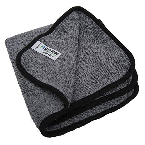 proWin Simpy Dry Trockentuch 40 x 40 cm Mikrofaser grau/schwarz - Original