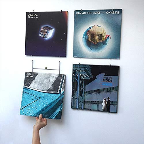 Vinyl-Waller - 4 Vinyl-Rahmen für Alben, 33 Umdrehungen, 12 Zoll - 4 Wandaufhängung für Vinylscheiben 33 Umdrehungen an der Wand - originelle Geschenkidee